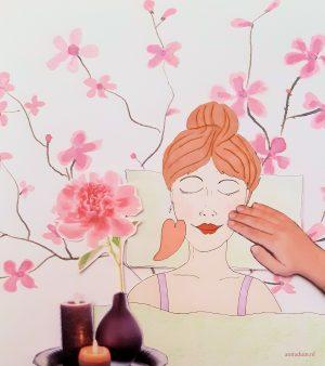 guasha gezichtsmassage
