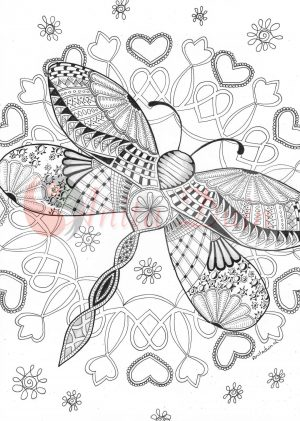 kleurplaat dragonfly