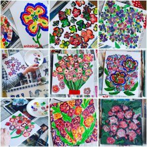 Intuitief bloemen schilderen