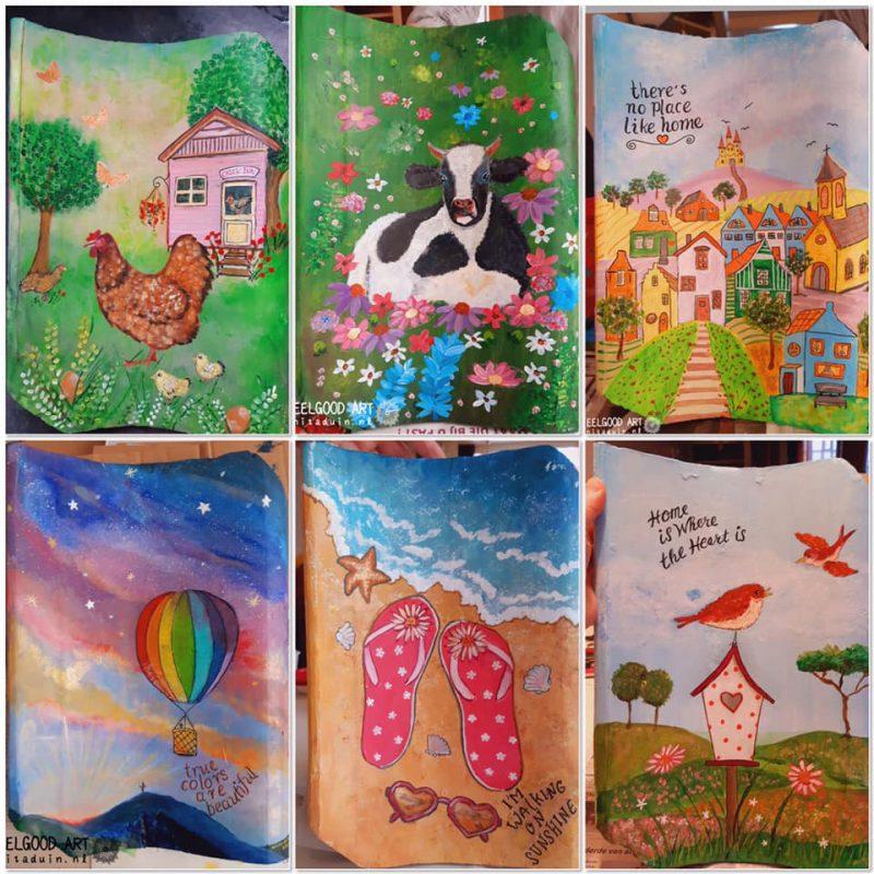 Duinpannen – geweldig leuke beschilderde dakpannen