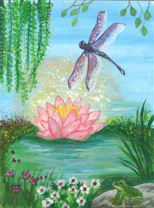 kaartendeck fluwelen vleugels lotusbloem