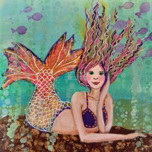 mini-schilderij mermaid 112