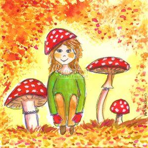 kaart mushroom fairy