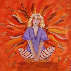 Herfst elfje schilderij