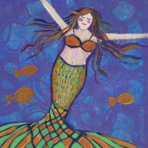 Minischilderij-Mermaids